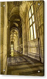 The Louvre Hall Of Shadows Acrylic Print