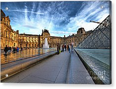 The Louvre Paris Acrylic Print by Charuhas Images