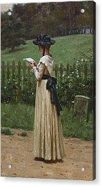 The Love Letter Acrylic Print by Edmund Blair Leighton