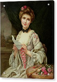 The Love Letter Acrylic Print by Francois Martin-Kayel