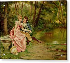 The Lovers Acrylic Print by Joseph Frederick Charles Soulacroix