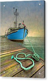 The Lurcher Digger Acrylic Print by Debra and Dave Vanderlaan