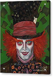 The Mad Hatter Acrylic Print by Viveca Mays