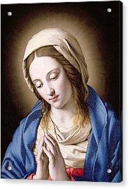 The Madonna Praying Acrylic Print