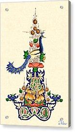 The Magnificent Peacock 2 Acrylic Print by Raffaella Lunelli