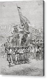 The Maharaja Of Baroda, India Riding An Acrylic Print by Ken Welsh