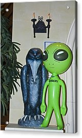 The Maltese Alien Acrylic Print by Richard Henne