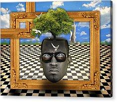 The Man And The Tree  Acrylic Print by Mark Ashkenazi