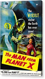The Man From Planet X, Pat Goldin Acrylic Print by Everett