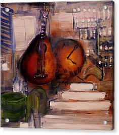 The Mandolin Acrylic Print by Evelina Popilian
