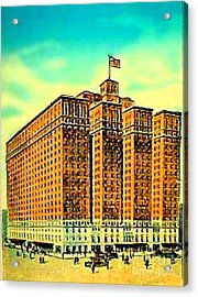 The Manger Hotel In New York City C.1920's Acrylic Print by Dwight Goss
