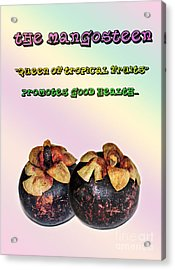 The Mangosteen - Queen Of Tropical Fruits Acrylic Print by Kaye Menner