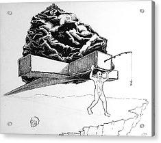 The Manifest Destiny Game Sudden Death Round Acrylic Print by Mack Galixtar