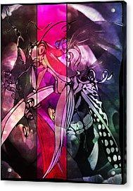 The Mantis Dreaming Acrylic Print by Katrina Slater