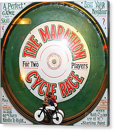 The Marathon Cycle Race At The Musee Mecanique At Fishermans Wharf . San Francisco Ca . 7d14396 Acrylic Print