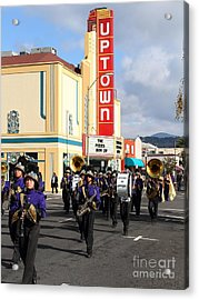 The Marching Band At The Uptown Theater In Napa California . 7d8925 Acrylic Print by Wingsdomain Art and Photography