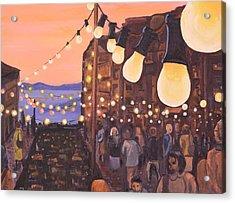 The Market At Dusk Acrylic Print by Jennifer Lynch