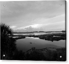 The Marshes Of St. Marks Acrylic Print by Judy Wanamaker