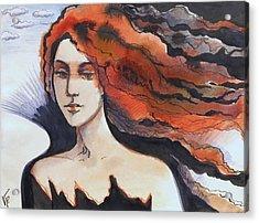 Acrylic Print featuring the painting The Martian by Valentina Plishchina