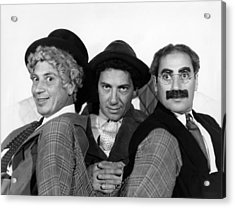 The Marx Brothers From Left Harpo Marx Acrylic Print