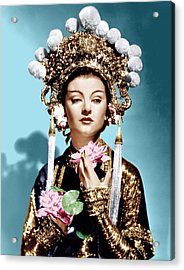 The Mask Of Fu Manchu, Myrna Loy, 1932 Acrylic Print by Everett