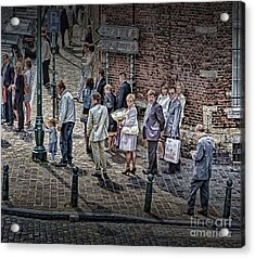 Acrylic Print featuring the photograph The Mass-goers Brussels by Jack Torcello