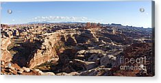 The Maze  Overlook Acrylic Print by Scotts Scapes