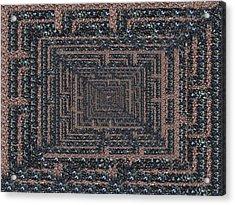 The Maze Acrylic Print by Tim Allen