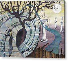 Acrylic Print featuring the painting The Maze by Valentina Plishchina