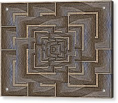 The Maze Within Acrylic Print by Tim Allen