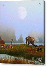 The Menagerie . Painterly Acrylic Print