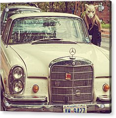 The Mercedes Sheep Acrylic Print by Laura George