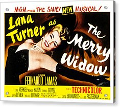 The Merry Widow, Lana Turner, 1952 Acrylic Print by Everett