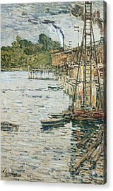 The Mill Pond Acrylic Print by Childe Hassam