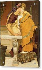 The Mirror Acrylic Print by Sir Lawrence Alma-Tadema