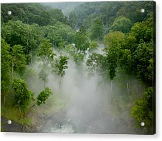 The Mist In The Valley Acrylic Print