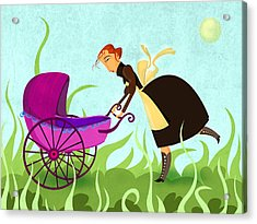 The Mom Acrylic Print by Autogiro Illustration