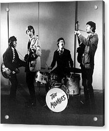 The Monkees, L-r Davy Jones, Peter Acrylic Print by Everett
