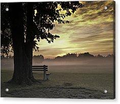 The Morning Golden Light Acrylic Print