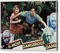 The Most Dangerous Game, Fay Wray, Joel Acrylic Print by Everett