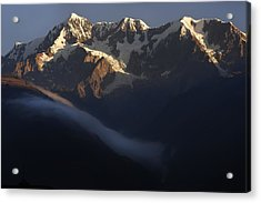 The Mountain Illimani. Republic Of Bolivia. Acrylic Print by Eric Bauer