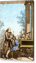 The Mozart Family On Tour 1763 Acrylic Print by Photo Researchers