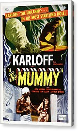 The Mummy, Top Left Boris Karloff Top Acrylic Print by Everett
