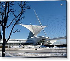 The Museum In Winter Acrylic Print by David Bearden