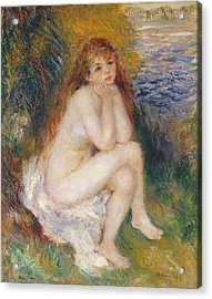 The Naiad Acrylic Print by Pierre Auguste Renoir