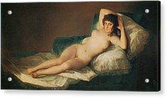 The Naked Maja Acrylic Print by Francisco Goya