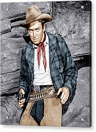 The Naked Spur, James Stewart, 1953 Acrylic Print by Everett