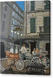 The Napolean House Acrylic Print by Amanda Ladner