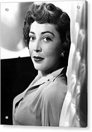 The Narrow Margin, Marie Windsor, 1952 Acrylic Print by Everett