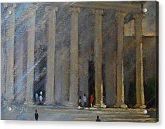 the National Gallery study Acrylic Print by Len Stomski